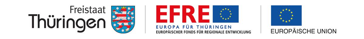 Europäischen Union (EFRE) und dem Freistaat Thüringen