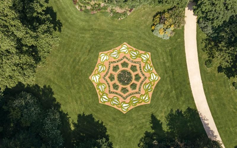 Fürstlich Greizer Park aus der Luft