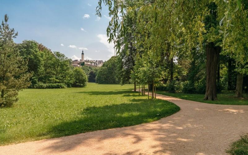 Fürstlich Greizer Park mit Blick auf das Obere Schloss